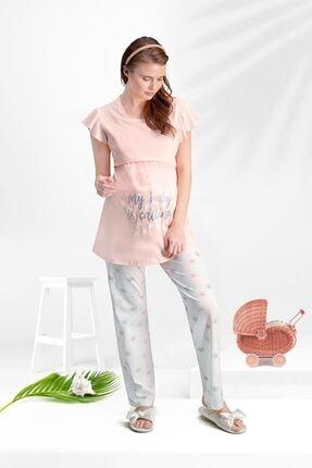 Arnetta 145 Lohusa Pijama Takım Pembe