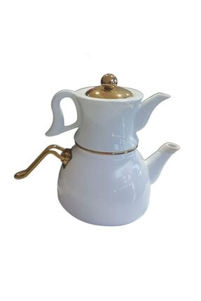 Dufy Emaye Beyaz Çaydanlık Şık Tasarım