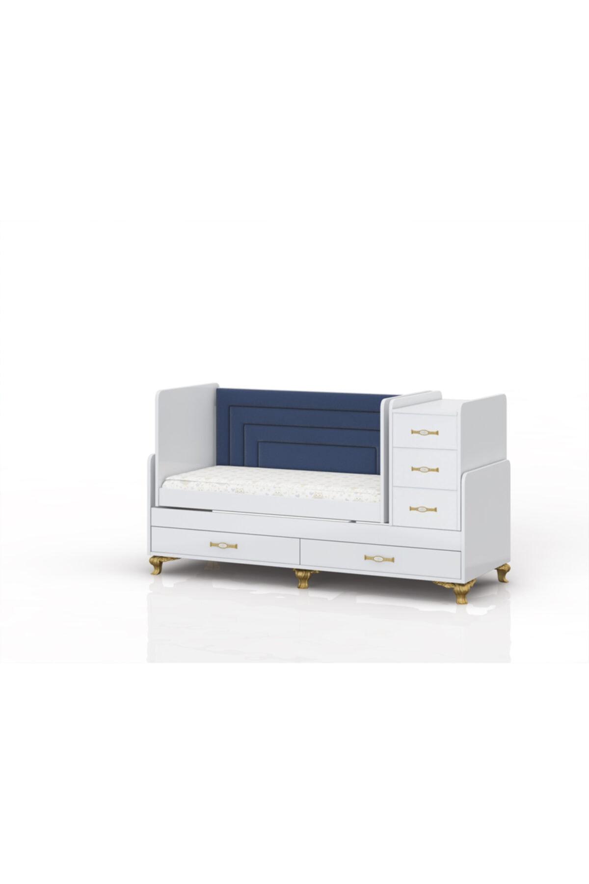 temosan mobilya Yataklı 5 Çekmeceli Büyüyen Beşik-sallanan & Sabitlenebilen Beşik 2