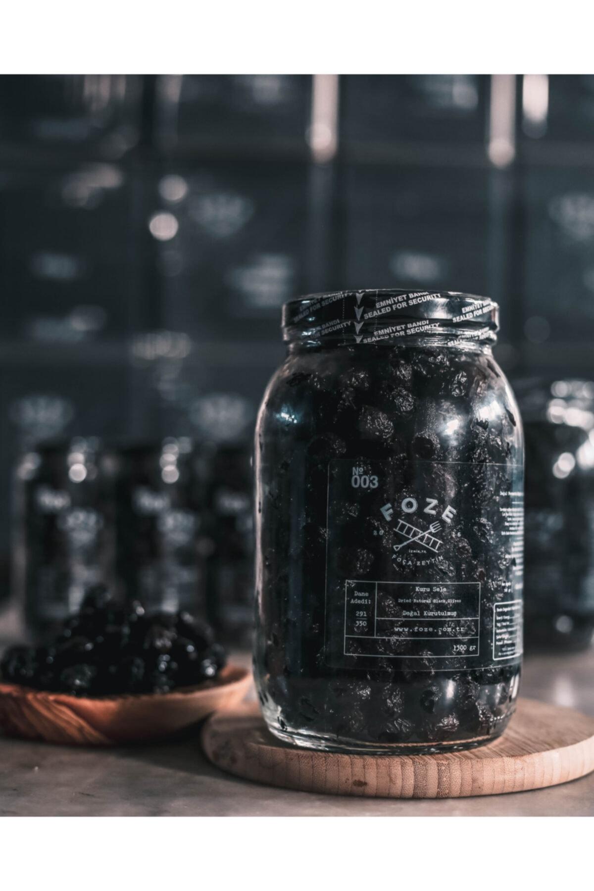 Foze Az Tuzlu Kuru Sele Siyah Zeytin 1300 gr 1