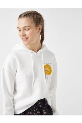 Koton Kadın Kırık Beyaz Sweatshirt 1yal68042ık