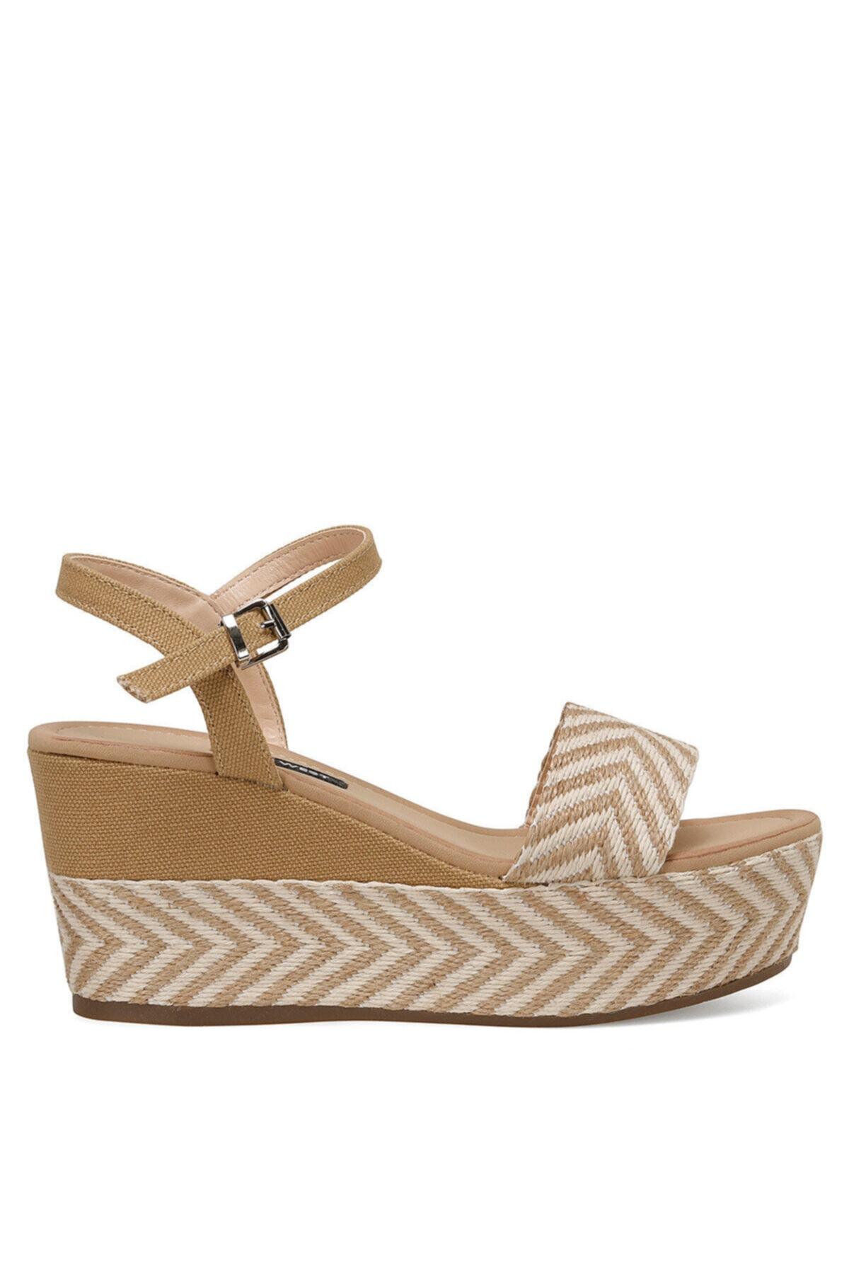 Nine West NORMA Haki Kadın Dolgu Topuklu Sandalet 100524808 1