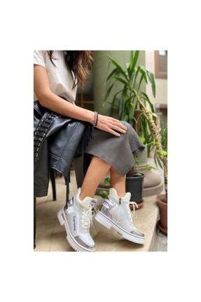 Guja 20k330-2 Kadın Yüksek Topuklu Sneaker Spor Ayakkabı - - 20k330-2 - Gümüş - 36