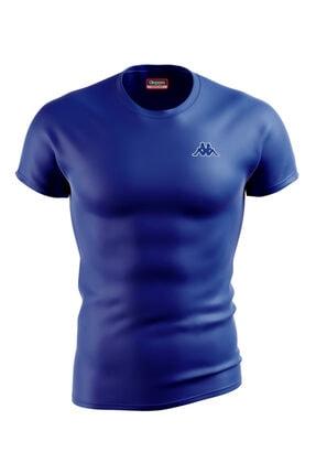 Kappa Erkek Saks Mavi Poly Baltel T-Shirt