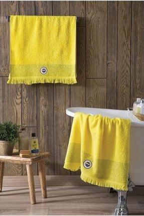 Taç Lisanslı Fenerbahçe Tassel Banyo Havlusu Sarı 75x150