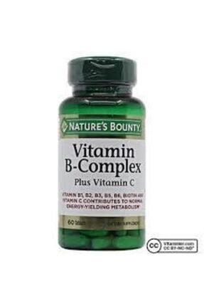 Nature's Bounty Vitamin B-complex Plus Vitamin-c 60 Tablet