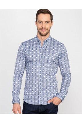 Tudors Slim Fit Baskılı Erkek Gömlek