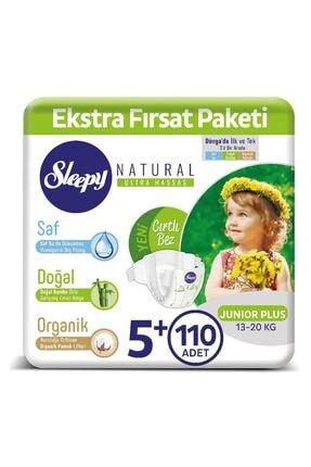 Sleepy Natural Bebek Bezi 5+ Numara Junior Plus 110 Adet