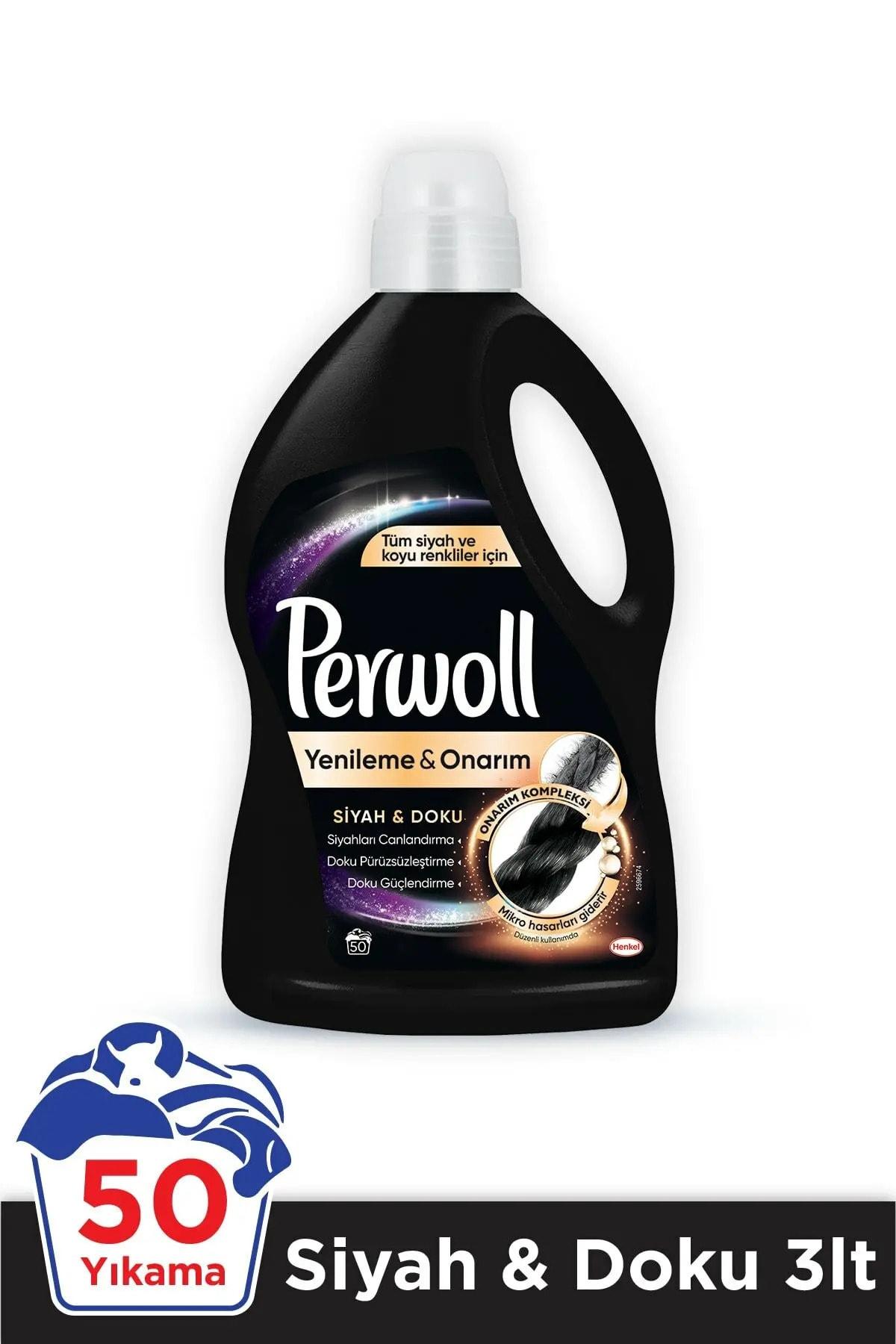 Perwoll Hassas Bakım Sıvı Çamaşır Deterjanı 4 x 3L (200 Yıkama) 4 Siyah Giysiler Doku&Koruma Yenileme&Onarım 2