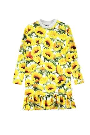 MOLO Caras Sunflower Fıelds Kız Çocuk Elbise