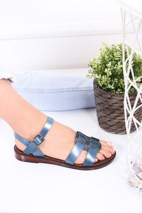 Deripabuc Hakiki Deri Twinkle-4 Kadın Deri Sandalet Dp-0077