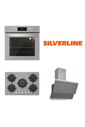 Silverline Bo6504s01 - Cs5364s01 - 3420 Classy 60 Gri Cam Ankastre Set