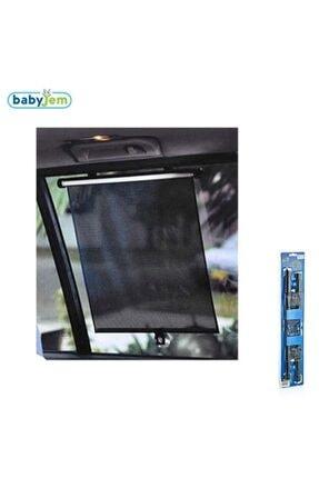 Babyjem Oto Yan Cam Güneşliği Makaralı Store 2 Ad