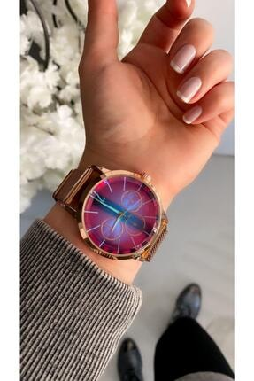 Spectrum Bay&bayan Çelik Renkli Ekran Mıknatıslı Hasır Kordon Kol Saati
