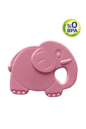 Bambino Bebek Dişlik - Kauçuk Yumuşak Fil Figürlü Bebek Diş Kaşıyıcı