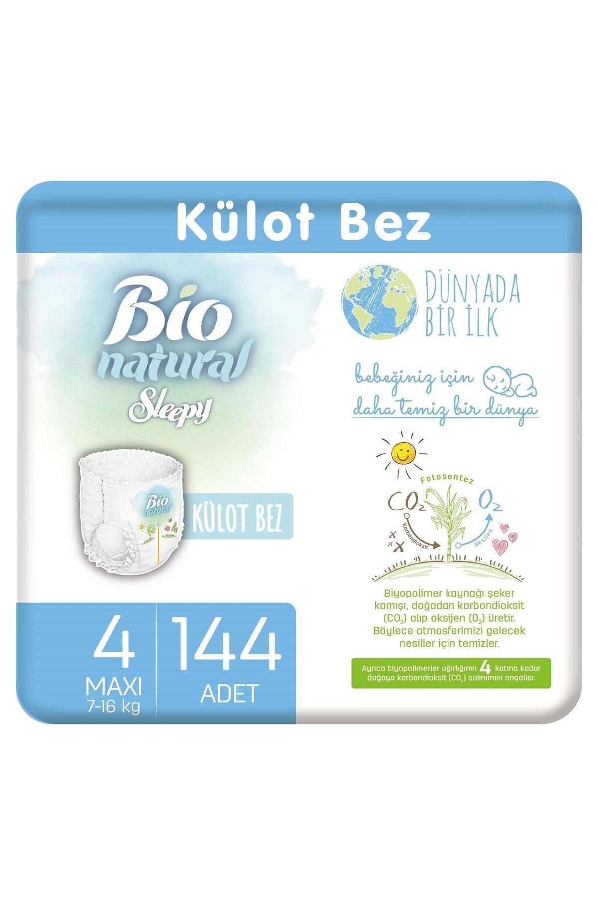 Sleepy Bio Natural Külot Bez 4 Numara Maxi 144 Adet 1