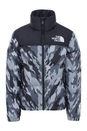 THE NORTH FACE 1996 Retro Nuptse Çocuk Mont Gri