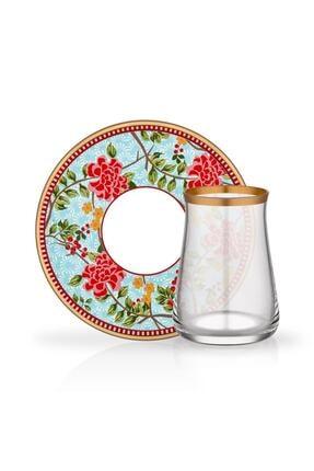 Glore Mila Tarabya 12 Parça Çay Bardağı Seti