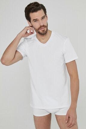 Penti Optik Beyaz Basic V Yaka Regular 2li Tşört