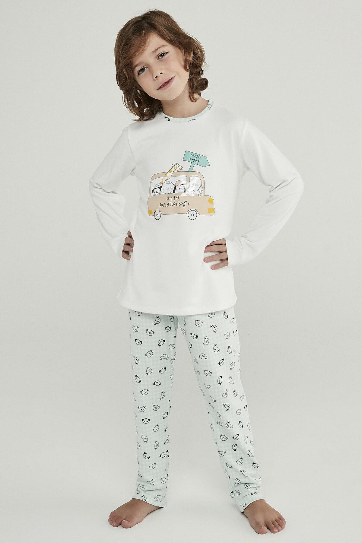 Penti Çok Renkli Erkek Çocuk Adventure Termal 2li Pijama Takımı 2