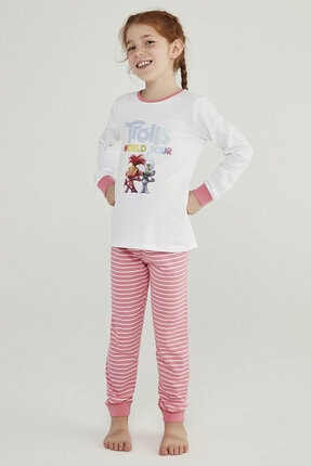 Penti Çok Renkli Kız Çocuk Trolls Glıtter 2li Pijama Takımı