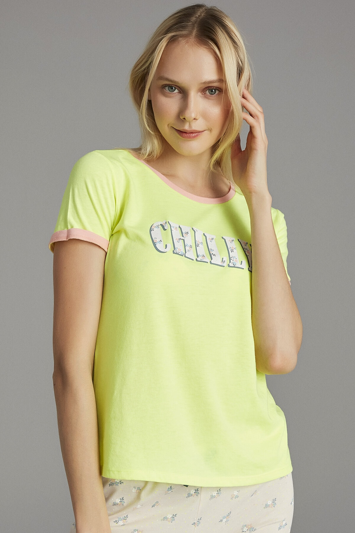 Penti Neon Sarı Chilly Tişört 2