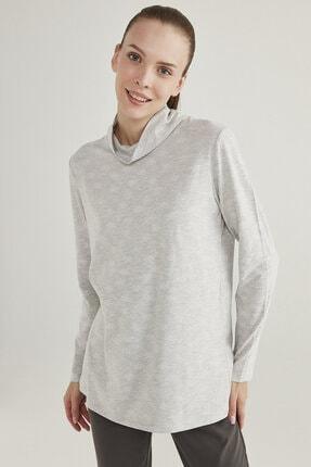 Penti Açık Gri Melanj Hot Tech Snowflake Sweatshirt