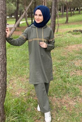 CNG MODA Kadın Haki Renk Eşofman Takımı