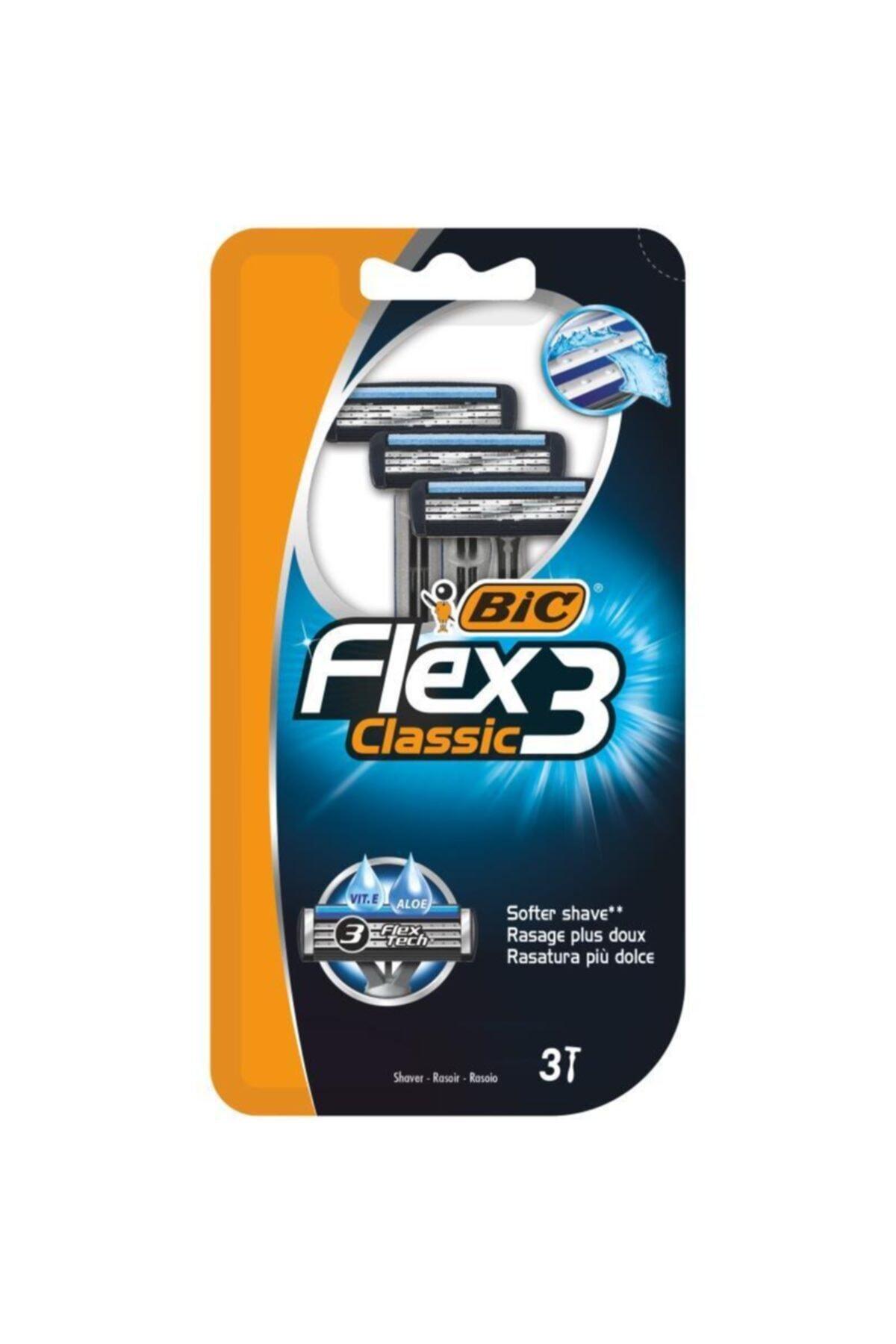 Bic Flex 3 Tıraş Bıçağı 3'lü Blister 1