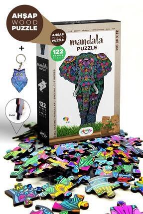 Dekolia Oyunzu Ahşap Mandala Fil Puzzle 122 Parça