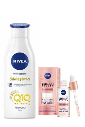 Nivea Q10 Sıkılaştırıcı Vücut Losyonu 250 ml&cellular Şekillendirici Çift Fazlı Bes. Yağ Iksiri 30ml