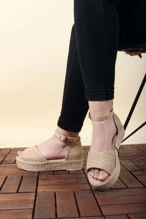 Oksit Florin 563 Hasır Kalın Taban Kadın Sandalet