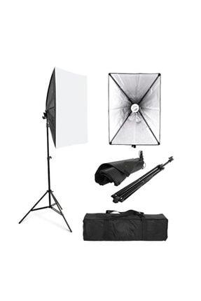 cazipshop Ev Ortamında Kamera Çekimleri Için 50x70 Softbox Sürekli Işık Seti