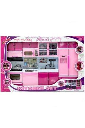 OKTOYS Oyuncak Mutfak Seti Oyuncak Şef Mutfak Seti 4 Lü Buzdolabı Fırın Lavabo Bulaşık Makinesi Set