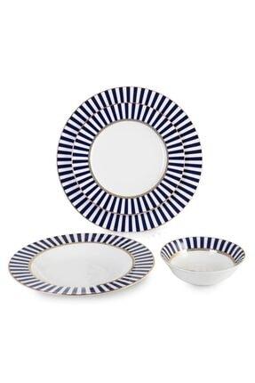 İpek Porselen 24 Parça 6 Kişilik Yuvarlak Günlük Yemek Takımı 36