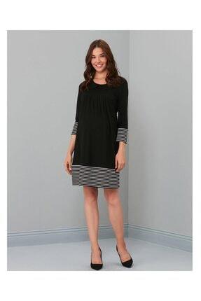 Işşıl 2601-mikado Çizgili Elbise