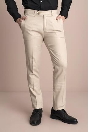TENA MODA Erkek Bej Viskonlu Keten Pantolon