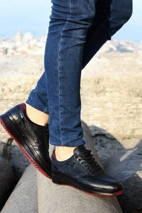 FAST STEP Hakiki Deri Siyah Erkek Sneaker Ayakkabı 722ma237