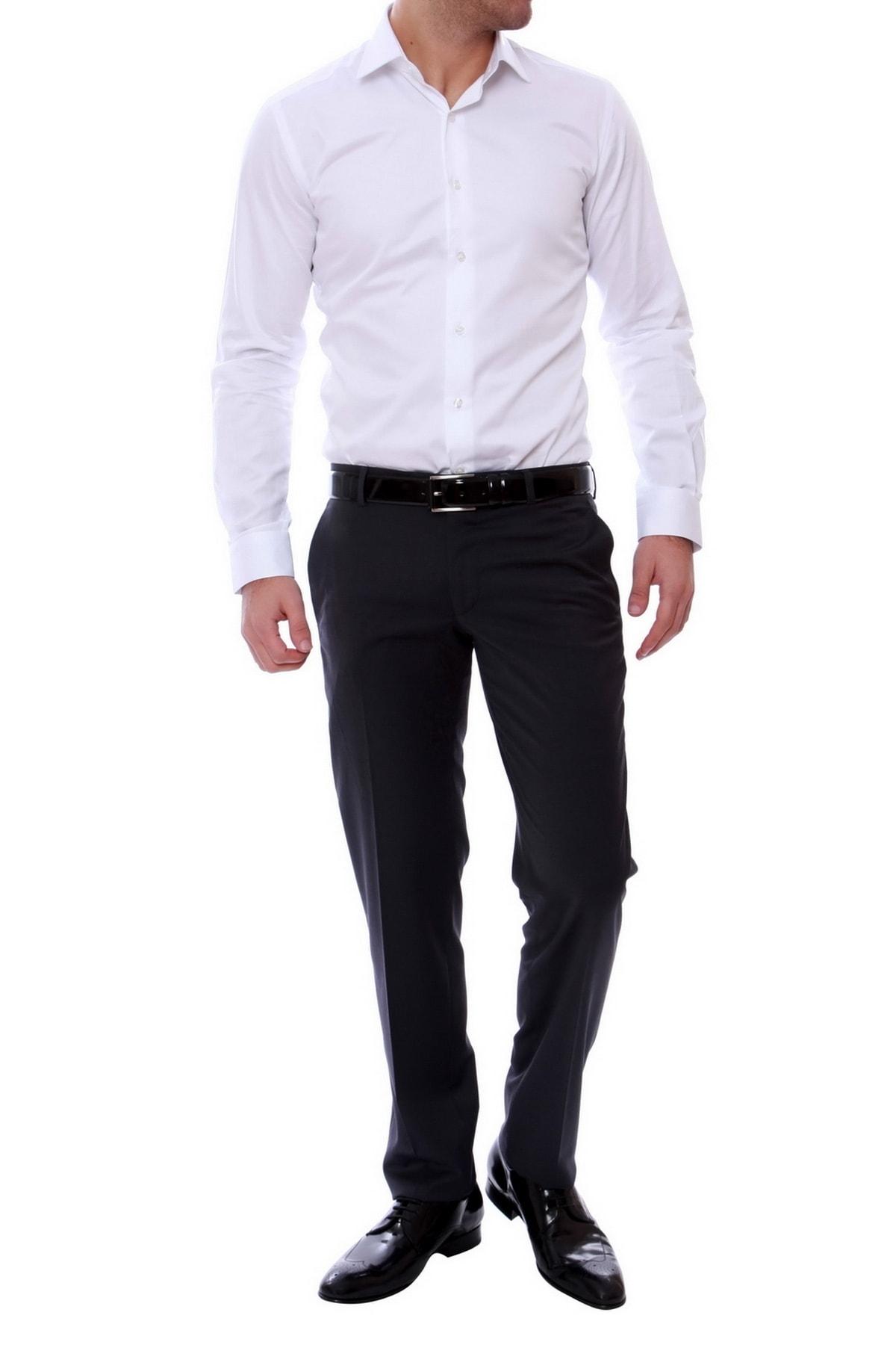 Efor P 888 Slim Fit Antrasit Klasik Pantolon 1