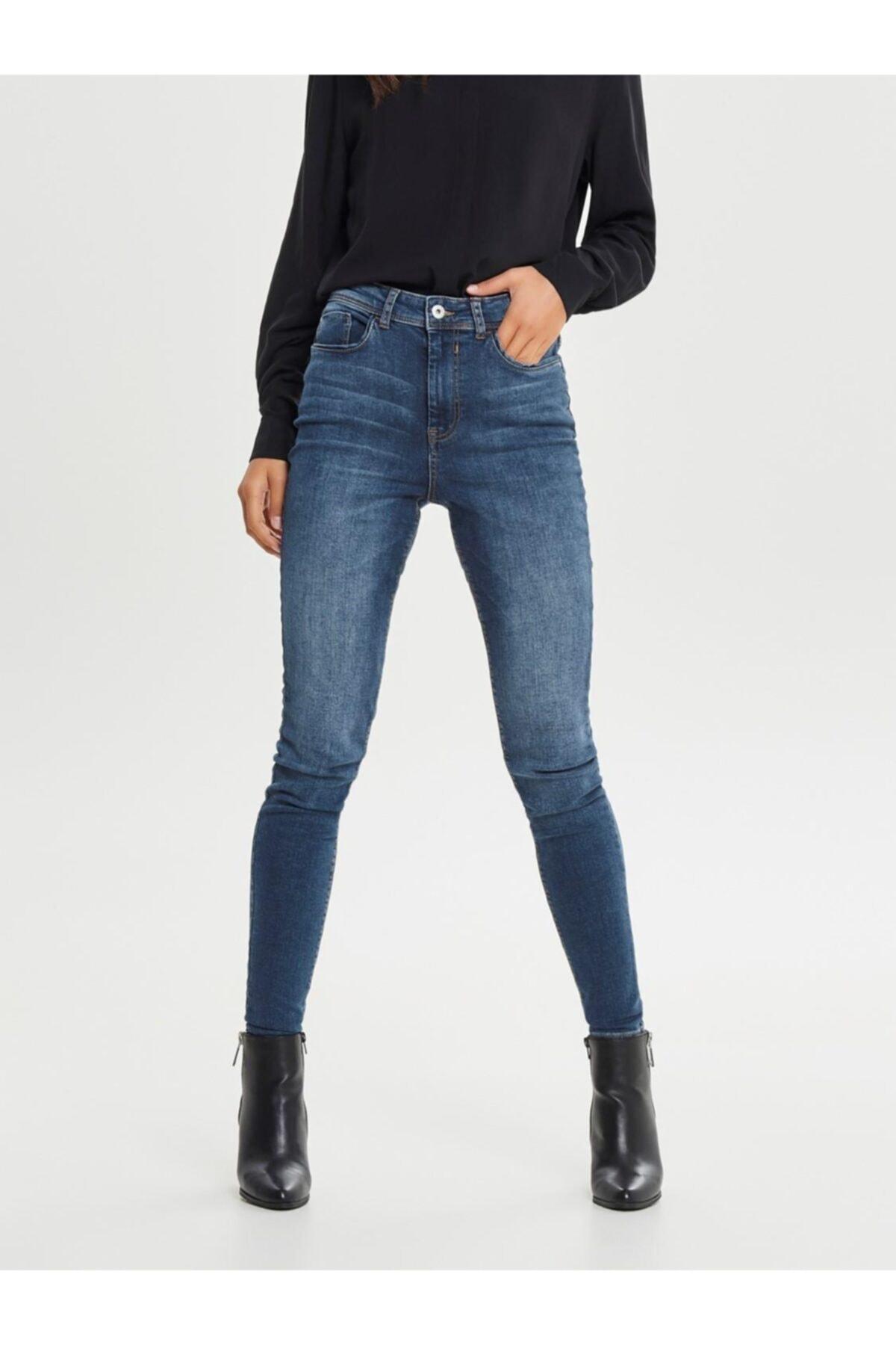 Only Kadın Jdy Jona Skinny High Med Blue Jean Pantolon 15171475 1