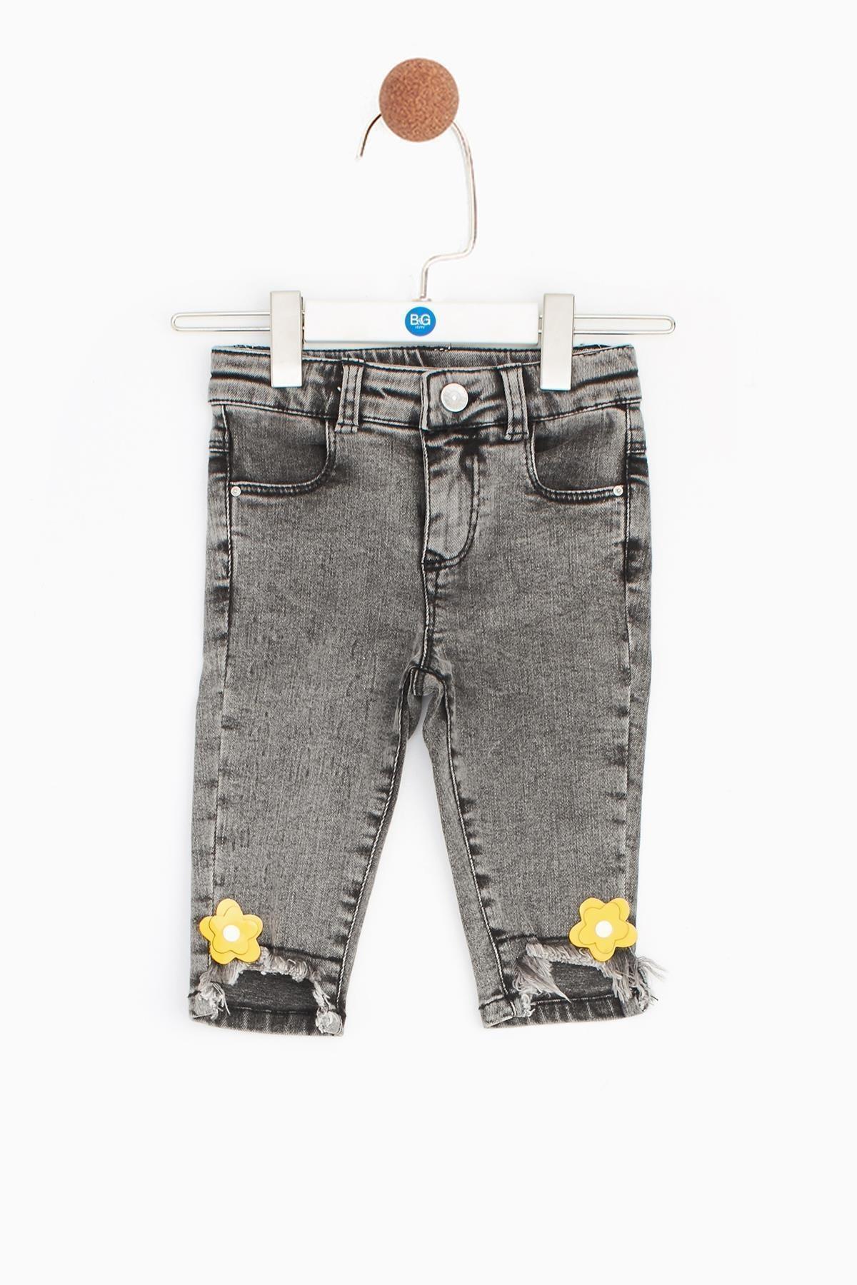 BG Baby Kız Bebek Antrasit Pantolon 1
