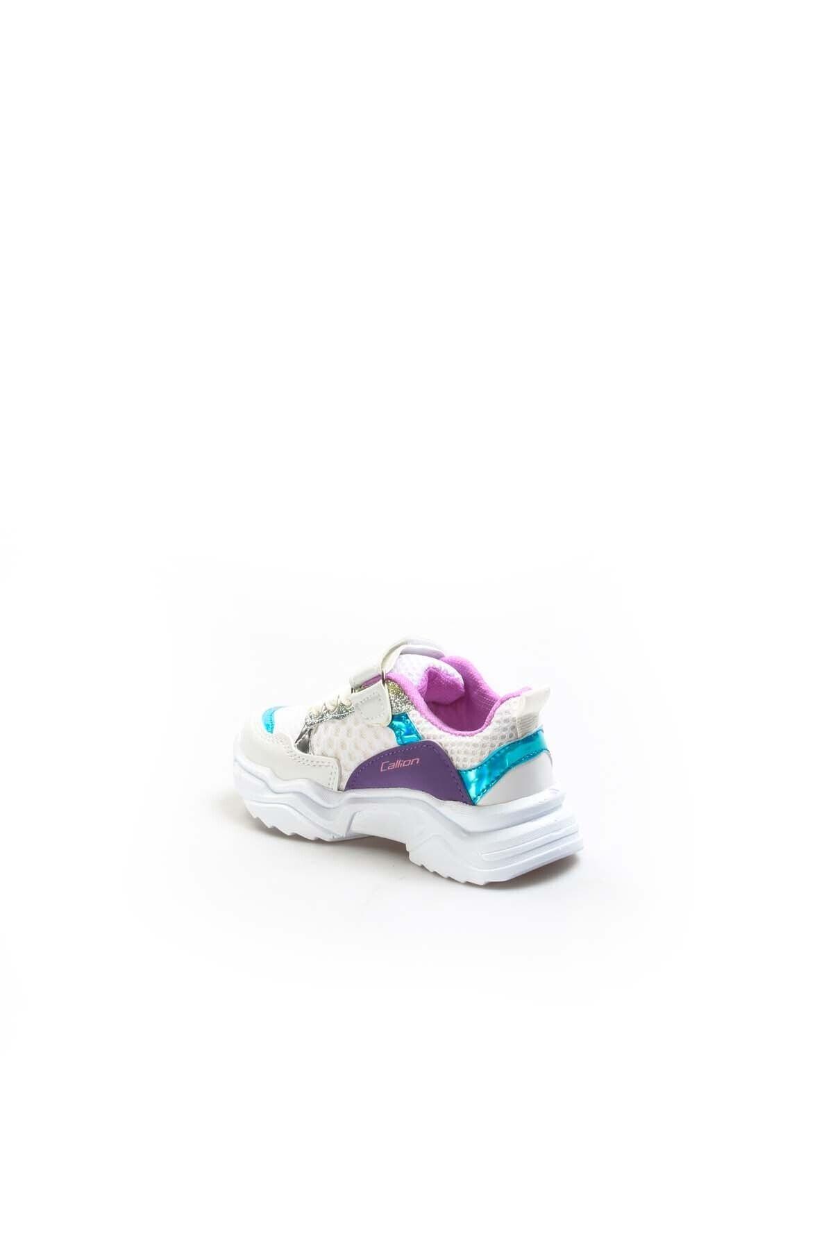 FAST STEP Beyaz Turkuaz Lila Unisex Çocuk Sneaker Ayakkabı 868pa051c 2