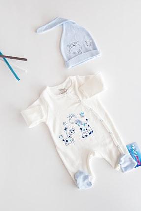 Babymod Layette Zürafa Işlemeli Tulum Bebek Takım