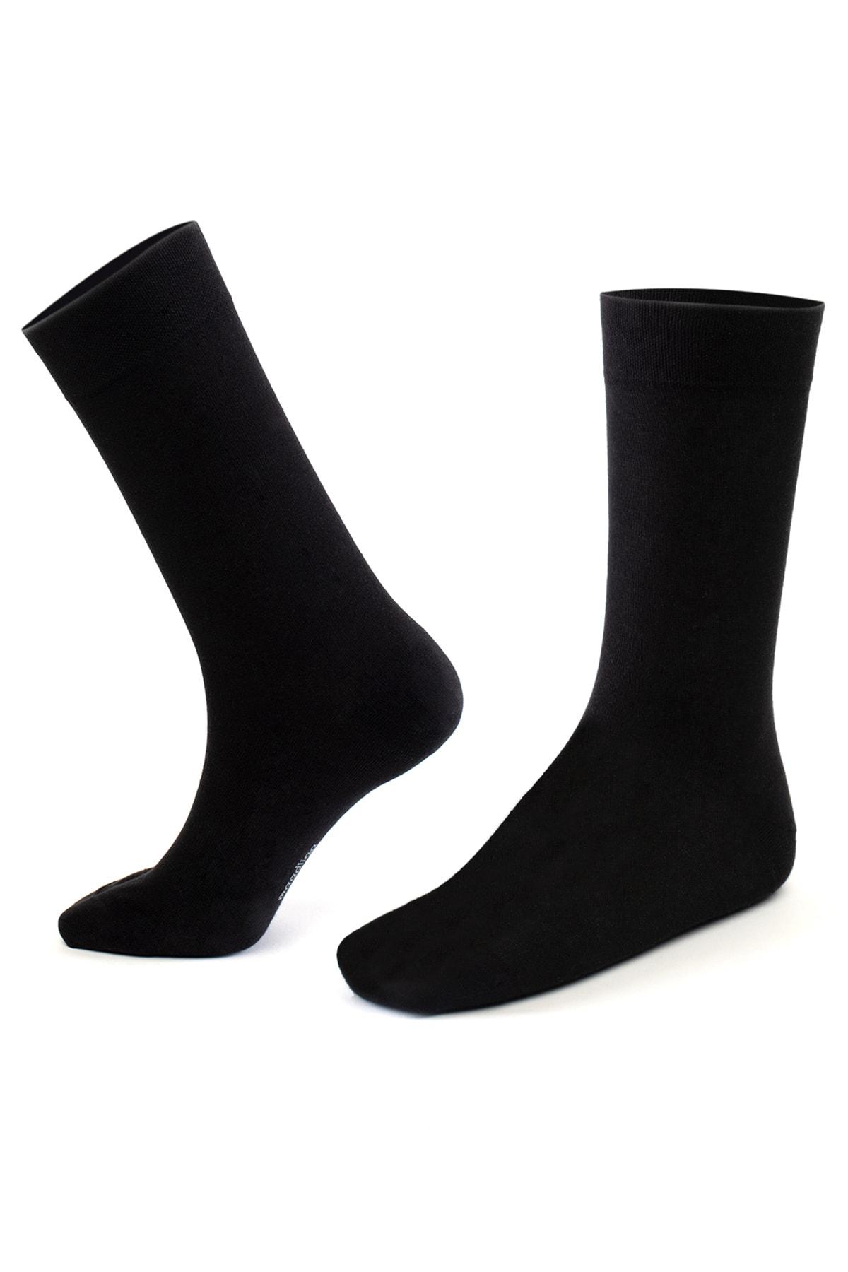 Moodligo Erkek Siyah Premium Bambu Çorap 6 lı 2