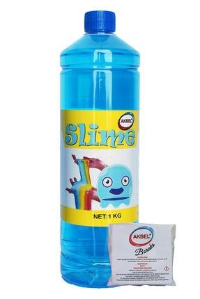 akbel Slime Şaka Hamuru Mavi 1kg