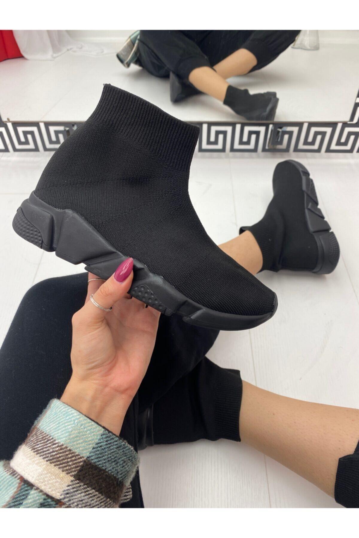 ELSESHOES Kadın Sıyah Bogazlı Spor Ayakkabı 2