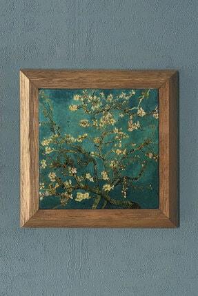 "Oscar Stone Decor Vincent Van Gogh'un ""almond Blossoms"" Eserii-taş Tablo- 28x28 Cm"