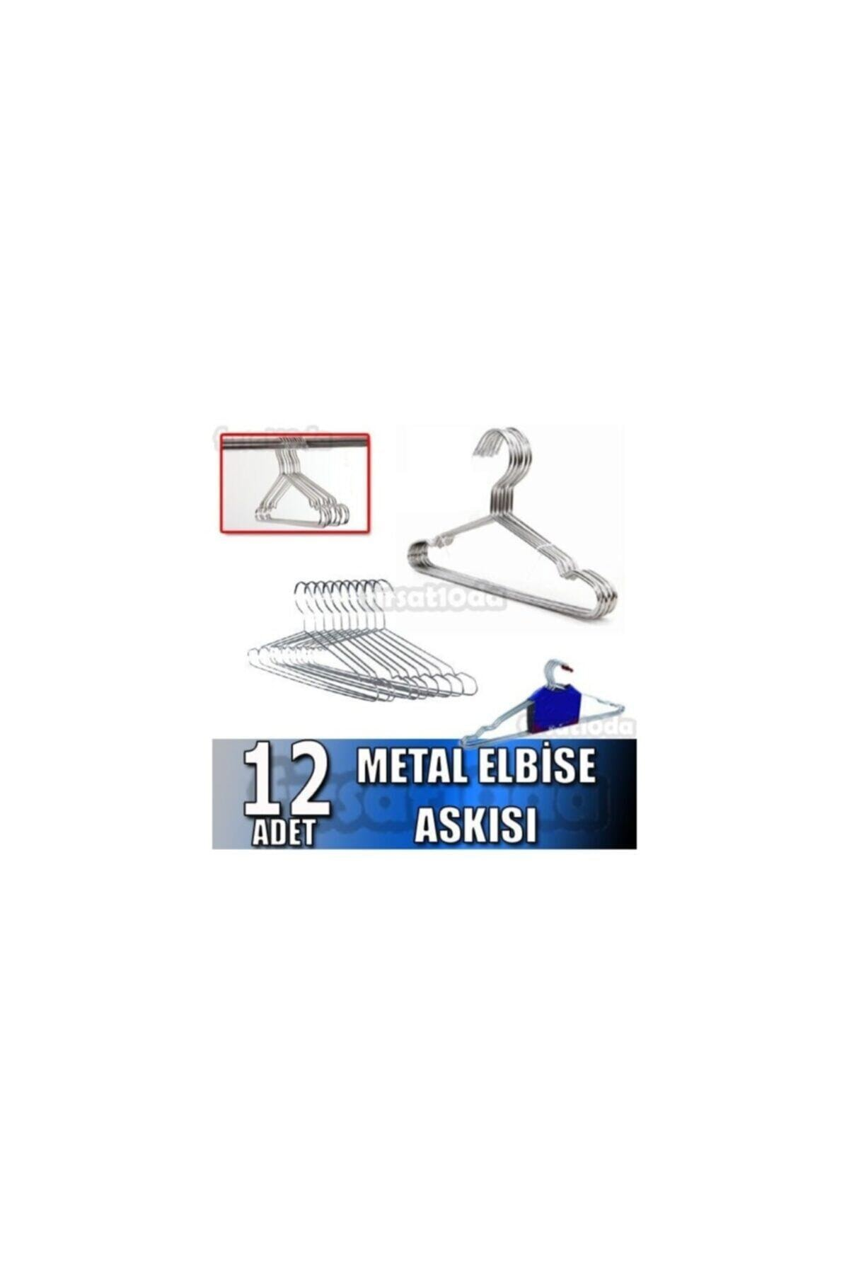 Cosargroup Metal Elbise Askısı 48 Adet Kıyafet Askısı Pantolon Askısı Askı 2