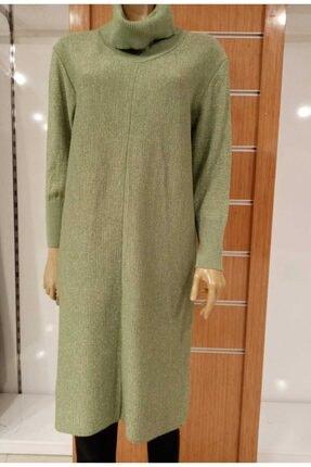 EREN Kadın Yeşil Triko Tunik