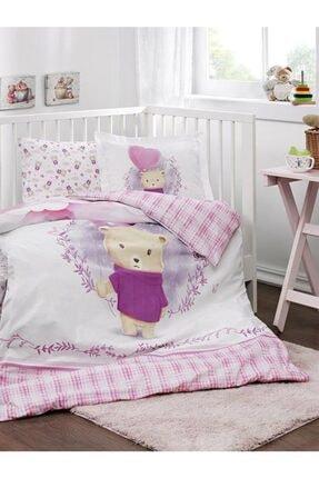 Özdilek Bebek Battaniyeli Beşik Nevresim Takımı Purple Lover Pembe